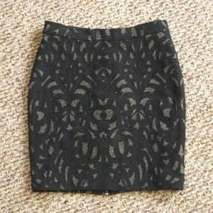 Parker metallic detail stretch knit mini skirt 2